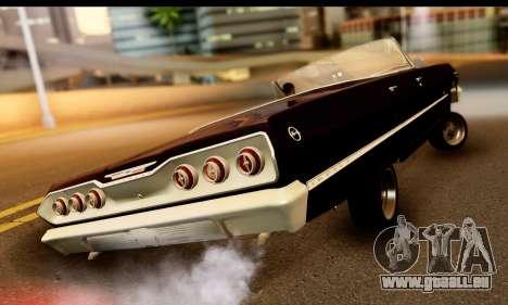 Chevrolet Impala 1963 für GTA San Andreas zurück linke Ansicht