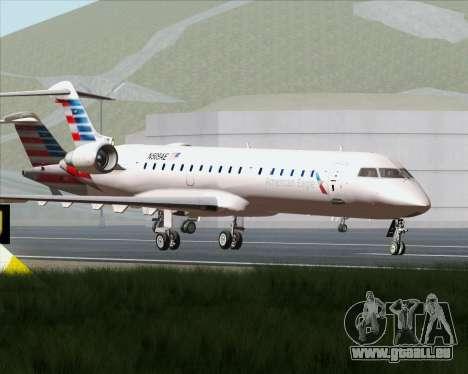 Bombardier CRJ700 American Eagle Airlines pour GTA San Andreas vue de dessus