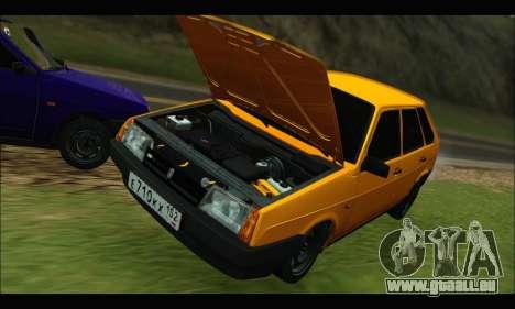VAZ 2109 BPAN pour GTA San Andreas sur la vue arrière gauche