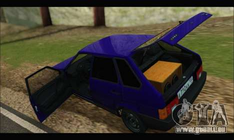 VAZ 2109 BPAN pour GTA San Andreas vue arrière