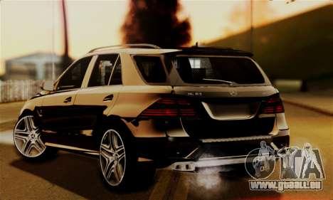 Mercedes-Benz ML63 AMG pour GTA San Andreas laissé vue