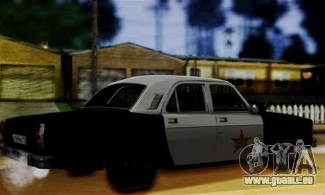 GAZ 3102 Volga - Shérif pour GTA San Andreas laissé vue