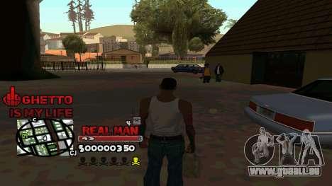 C-HUD Real Man pour GTA San Andreas troisième écran
