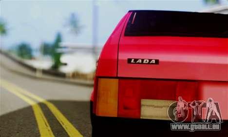 VAZ 2108 Hobo pour GTA San Andreas sur la vue arrière gauche