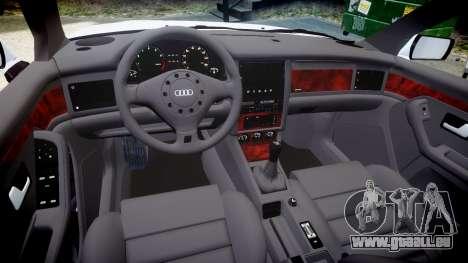 Audi 80 Cabrio euro tail lights pour GTA 4 est une vue de l'intérieur