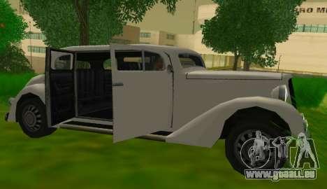 Hustler Limousine pour GTA San Andreas vue de droite