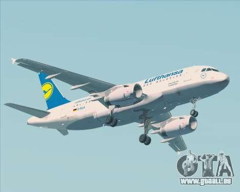 Airbus A319-100 Lufthansa für GTA San Andreas Seitenansicht