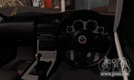 Nissan Skyline R34 HELL DT für GTA San Andreas zurück linke Ansicht