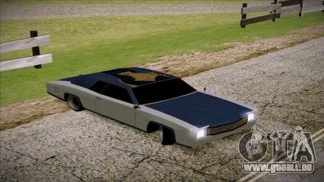 Buccaneer 2.0 pour GTA San Andreas sur la vue arrière gauche