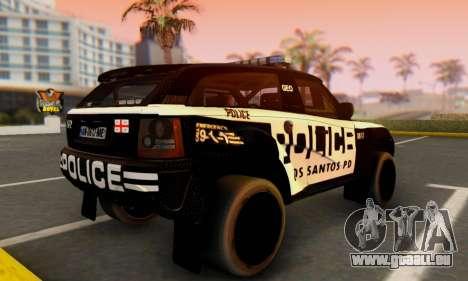 Bowler EXR S 2012 v1.0 Police pour GTA San Andreas laissé vue