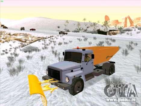 GAZ 3309 Schnee für GTA San Andreas Rückansicht