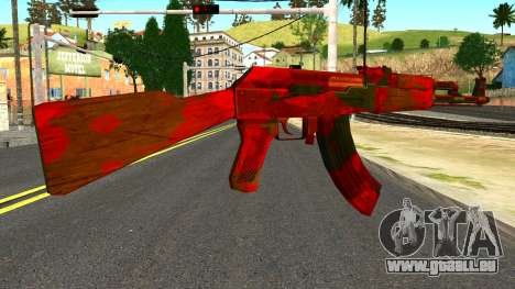 AK47 with Blood für GTA San Andreas zweiten Screenshot