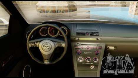 Mazda Speed 3 [Sakura Trick Itasha] pour GTA San Andreas sur la vue arrière gauche