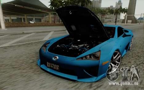 Lexus LF-A 2010 pour GTA San Andreas vue de droite