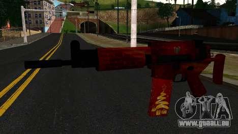 Réveillon du nouvel An Fusil d'Assaut 2 pour GTA San Andreas