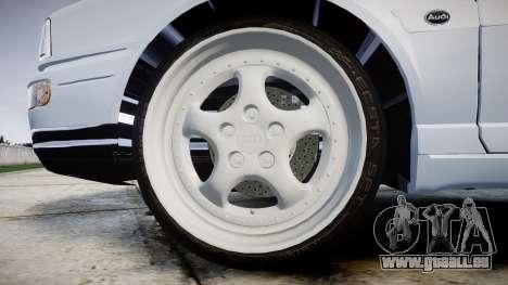 Audi 80 Cabrio euro tail lights pour GTA 4 Vue arrière