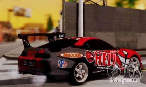 Toyota Supra HELL DT pour GTA San Andreas laissé vue