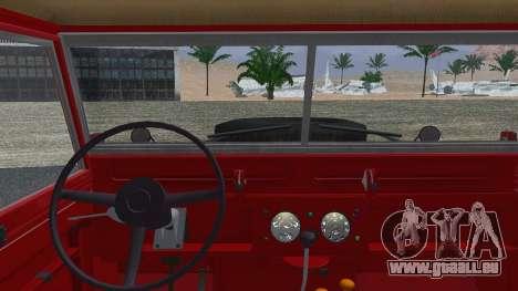 Land Rover Series IIa LWB Wagon 1962-1971 pour GTA San Andreas sur la vue arrière gauche