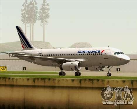 Airbus A319-100 Air France für GTA San Andreas Seitenansicht