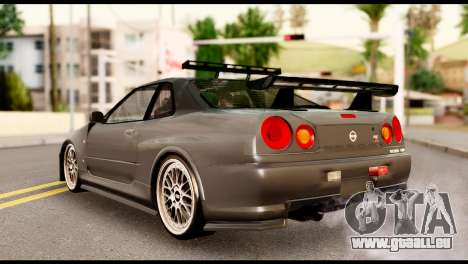 Nissan Skyline R34 Z pour GTA San Andreas laissé vue