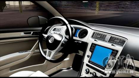 Volkswagen Golf 7 für GTA San Andreas Rückansicht