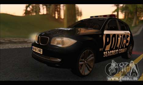 BMW 120i USA Police pour GTA San Andreas laissé vue