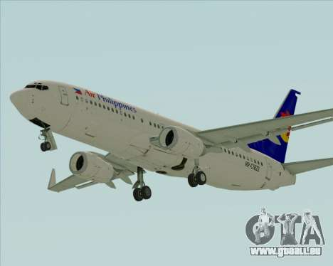 Boeing 737-800 Air Philippines für GTA San Andreas linke Ansicht