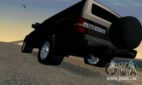 Mitsubishi Pajero Intercooler Turbo 2800 pour GTA San Andreas vue de dessus
