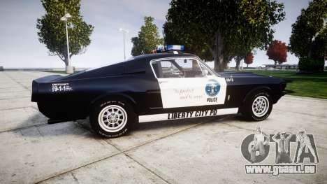 Ford Shelby GT500 Eleanor Police [ELS] für GTA 4 linke Ansicht
