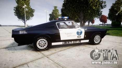 Ford Shelby GT500 Eleanor Police [ELS] pour GTA 4 est une gauche