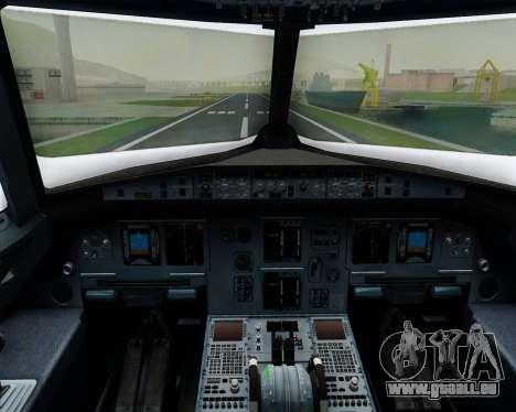 Airbus A320-200 Iberia Express für GTA San Andreas Innen