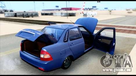 Lada Priora 2 für GTA San Andreas Rückansicht