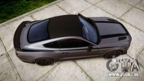 Ford Mustang GT 2015 Custom Kit black stripes für GTA 4 rechte Ansicht