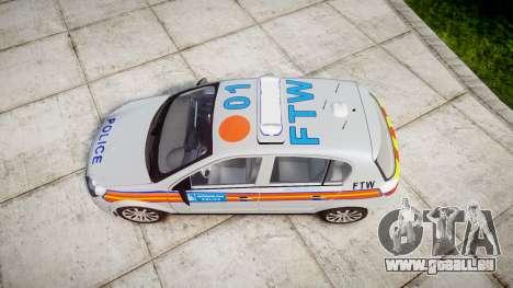 Vauxhall Astra 2009 Police [ELS] 911EP Galaxy pour GTA 4 est un droit
