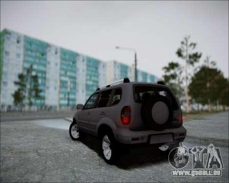 Chevrolet Niva für GTA San Andreas Rückansicht