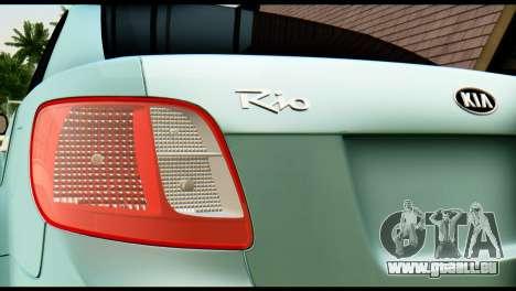 Kia Rio pour GTA San Andreas vue arrière