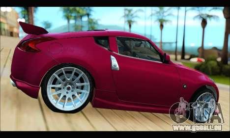 Nissan 370Z 2010 Stanced pour GTA San Andreas laissé vue