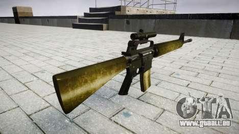 Le M16A2 fusil [optique] d'olive pour GTA 4 secondes d'écran