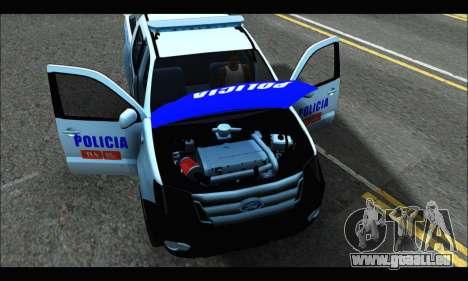 Ford Ranger P.B.A 2015 Text4 pour GTA San Andreas vue de droite