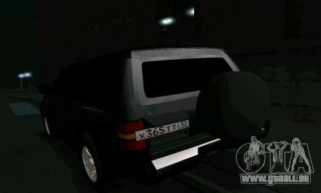 Mitsubishi Pajero Intercooler Turbo 2800 für GTA San Andreas Innen