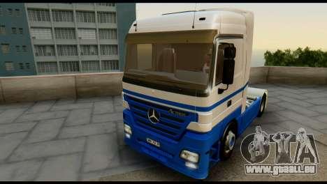 Mercedes-Benz Actros PJ1 pour GTA San Andreas vue de dessus