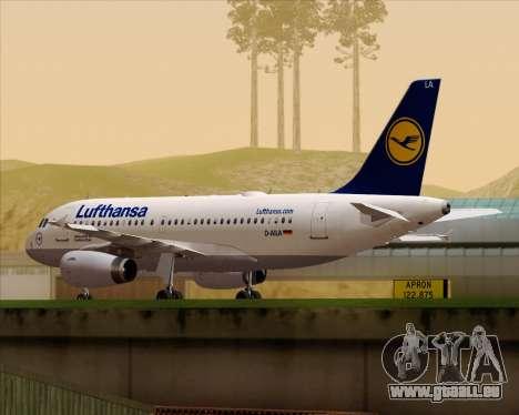 Airbus A319-100 Lufthansa pour GTA San Andreas laissé vue