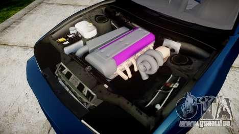 Nissan Silvia S13 1JZ pour GTA 4 est une vue de l'intérieur