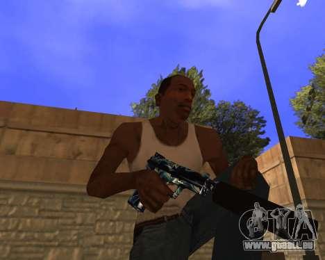 Blue Chrome Weapon Pack pour GTA San Andreas troisième écran
