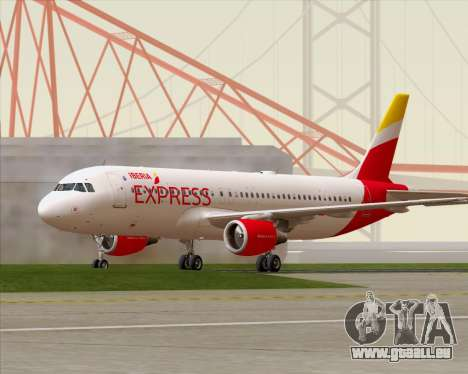 Airbus A320-200 Iberia Express für GTA San Andreas linke Ansicht