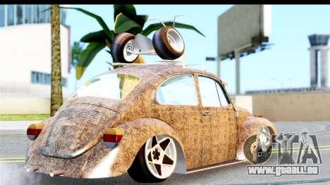 Volkswagen Beetle Vosvos 1973 pour GTA San Andreas laissé vue