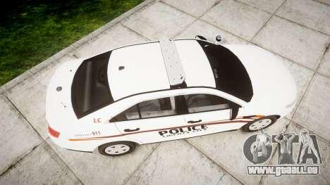 Ford Taurus 2014 Police Interceptor [ELS] für GTA 4 rechte Ansicht
