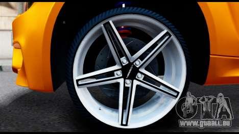 BMW M1 pour GTA San Andreas sur la vue arrière gauche