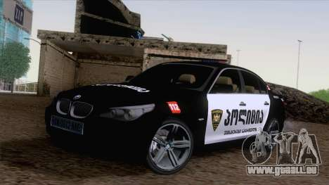 BMW M5 E60 Georgia Police pour GTA San Andreas