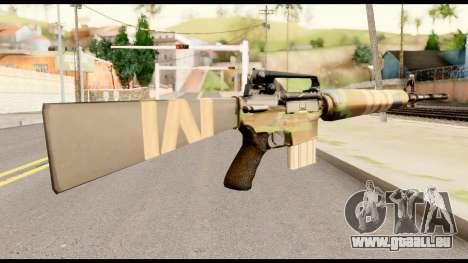 M16 from Metal Gear Solid für GTA San Andreas zweiten Screenshot